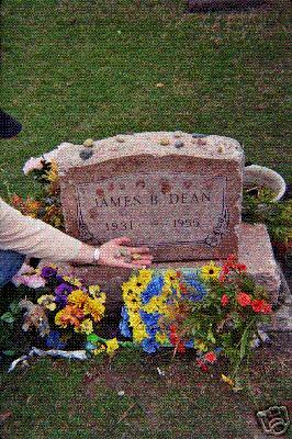 James Dean grave stone