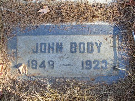 John Body headstone