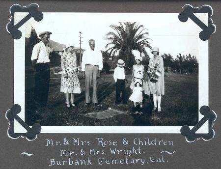 Sarah Jane Rose grave 1928