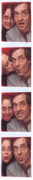 Lisa & Walter at Knott's Berry Farm photo booth